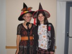 YAAC members Hannah Lindt and Masha Lepire, dressed up for Halloween, during the Spooky Scavenger Haunt, 2007, at the Central Library.