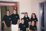 "YAAC members before a ""Youth Night"" event, c. October, 1996."